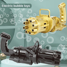 Kids Automatic Gatling Bubble Gun Toys Summer Outdoor Soap Water Bubble Machine Electric Bubble Blower Wedding Toys For Children