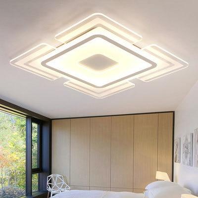 Ультра-тонкий светодиодный потолочный светильник 1,2 м, современный минималистичный Прямоугольный светильник для гостиной, спальни, лампа