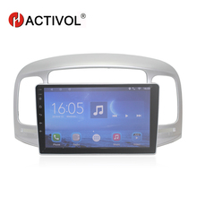HACTIVOL 9 Quad core car radio gps navi for Hyundai Accent 2006-2011 android 7.0 car DVD video player with 1G RAM 16G ROM hactivol 2 din car radio face plate frame for hyundai accent 2006 2011 car dvd gps navi player panel dash mount kit car product