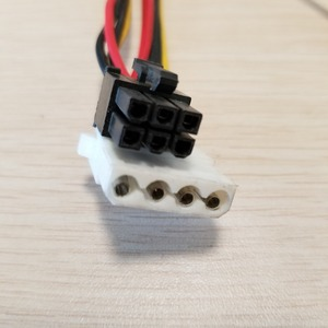 Image 4 - بطاقة جرافيكس 6Pin محول إلى 3 x 4Pin كابل الطاقة 18AWG للكمبيوتر DIY بها بنفسك 70 سنتيمتر