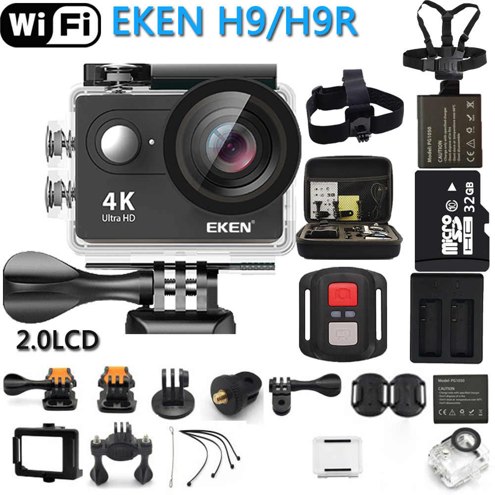 Asli Action Camera Eken H9R/H9 Ultra HD 4K WIFI Olahraga Camcorder Video Pergi Tahan Air Pro Camera 170 gelar 1080P @ 60FPS Cam