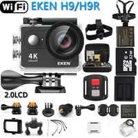 Câmera de ação original eken h9r/h9 ultra hd 4 k wifi câmera de vídeo esportes ir à prova dwaterproof água pro câmera 170 graus 1080p @ 60fps cam