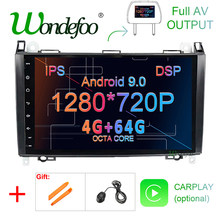 "9 ""GPS de voiture DSP IPS Android 9.0 4G 64G pour Mercedes Benz Sprinter B200 classe B W245 B170 W209 W169 A180 A160 W906 radio sans dvd(China)"