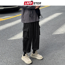 Trousers Joggers LAPPSTER Harem-Pants Korean-Pockets Japanese Streetwear Mens Harajuku