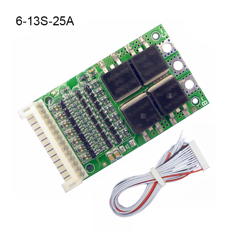 <font><b>BMS</b></font> 6S <font><b>7S</b></font> 8S 9S 10S 11S 12S 13S 35A 50A 80A 150A Charging Module Li-ion <font><b>18650</b></font> Battery Pack Protection Balancer Equalizer Board image