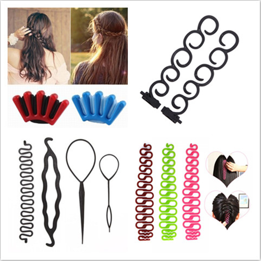 9 Styles Lady French Home Use Hair Braiding Tool Weave Braider Roller Hair Twist Styling Tool DIY Accessories