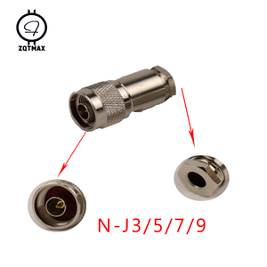 Image 4 - Zqtmax 10Pcs Verscheidenheid Modellen N KK N JJ N J5/J7 N 75 5/7 N Type Male Vrouwelijke Connector Coaxiale connectors Convert Adapter
