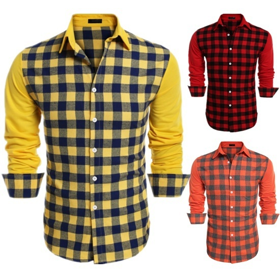 Zogaa 2019 Brand Design Casual Shirt Men Long Sleeve Slim Fit Cotton Dress Shirts Men Black Street Casual Plaid Men Shirts 2XL