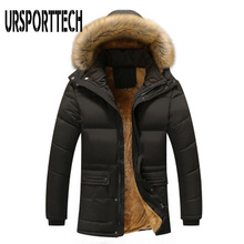 M-7XL Fur Collar Hooded Men Winter Jacket 2019 New Fashion Warm Wool Liner Man and Coat Windproof Male Parkas Casaco