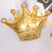 1pc Large Size Gold Crown Foil Balloons Prince Princess Baby Shower First Birthday Bachelorette Party Decorations Photo Props