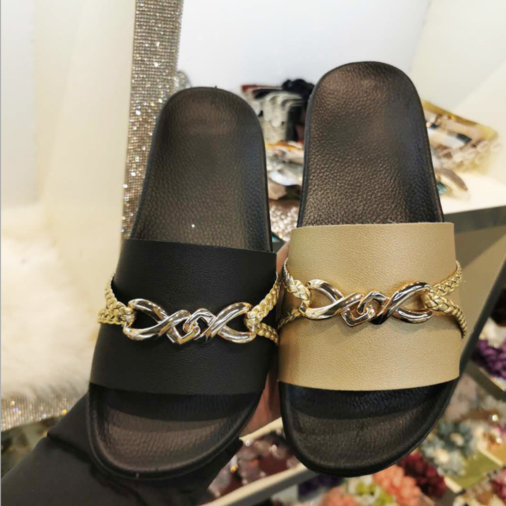 Woman Summer Sandals Bathroom Non-slip Outdoor Party Slippers Cute Shoes Flip Flops Slide Shoes Flat Waterproof Shoes