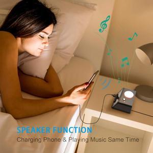 Image 5 - Homtime רטט רמקולים שייקר בס USB חרשים מיטת שייקר מעורר רמקול שולחן שעון הישנים הכבד החרשים הפרעה