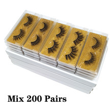 Atacado cílios postiços maquiagem cílios postiços grossos no volume atacado cílios 100/150/200 pces 3d vison cílios naturais vison cílios