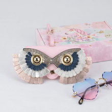 Removeable Sunglasses Eyewear Case Bag Owl Glasses Box 2020 New PU Leather Glasses Case Spectacle Leather Sunglasses Cases Women
