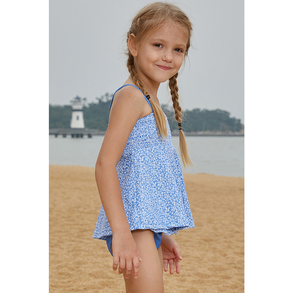Beach Children Two-piece Swimsuits GIRL'S Printed Camisole Loose-Fit Bikini GIRL'S Swimsuit Set TZ410062
