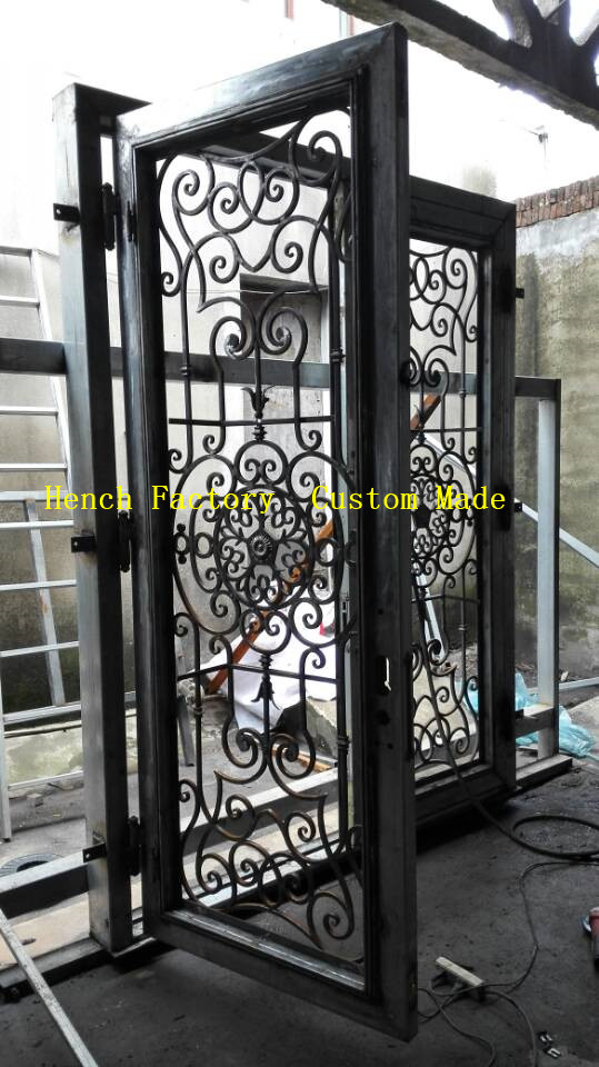 Shanghai Hench Brand China Factory 100% Custom Made Sale Australia Iron Door Shop Near Me