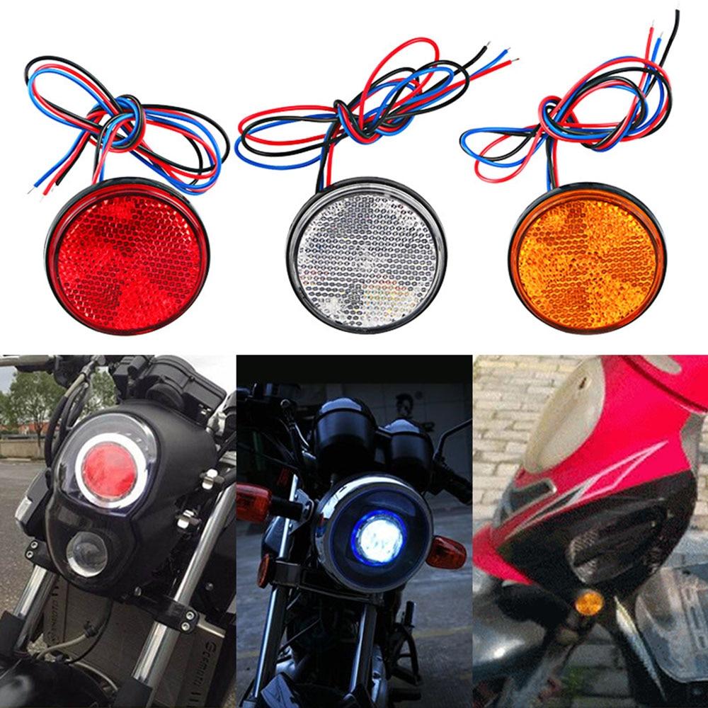 Белый/желтый/красный 24 SMD Автомобильный Круглый задний фонарь, s поворотный одиночный светильник, прямоугольный светодиодный автомобильный...