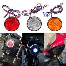 Luz redonda automotiva, luz branca/amarela/vermelha 24 smd luz traseira para carro refletor caminhão lâmpadas de luz de aviso lateral