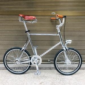 20 inch bicycle Single speed vintage Bike fixie bike retro sliver bicycle frame mini bicycle with slight