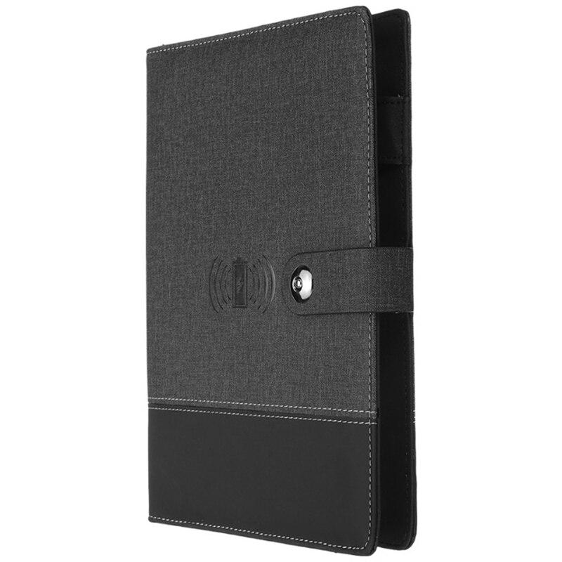 Бизнес блокнот Многофункциональный A5 Power Book 8000 мАч Power Bank Qi Беспроводная зарядка записная книжка Переплет Дневник на спирали планировщик|Записные книжки|   | АлиЭкспресс