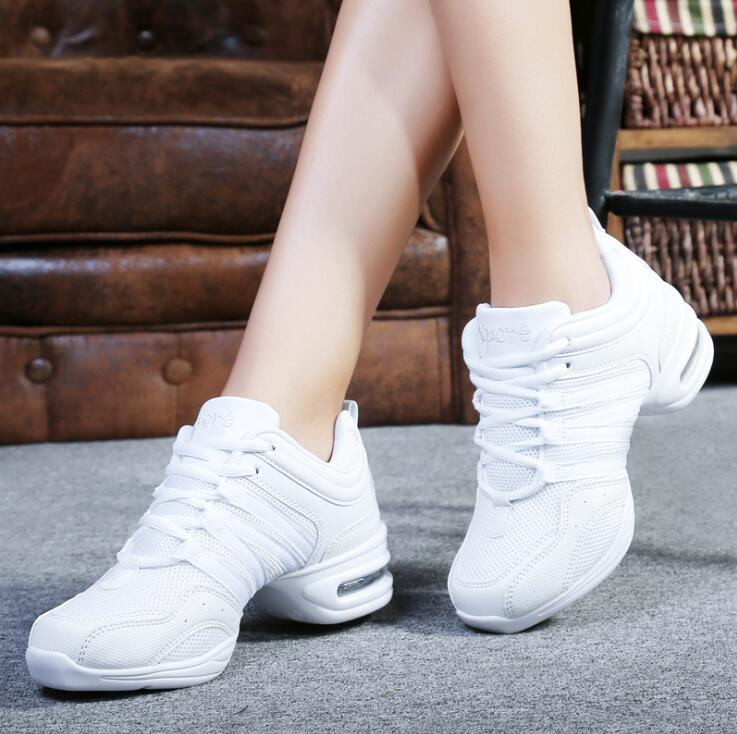 Women Black Red Gold White Dance Shoes  Jazz Hip Hop  Sneakers For Woman Platform Dancing Ladies Fitness