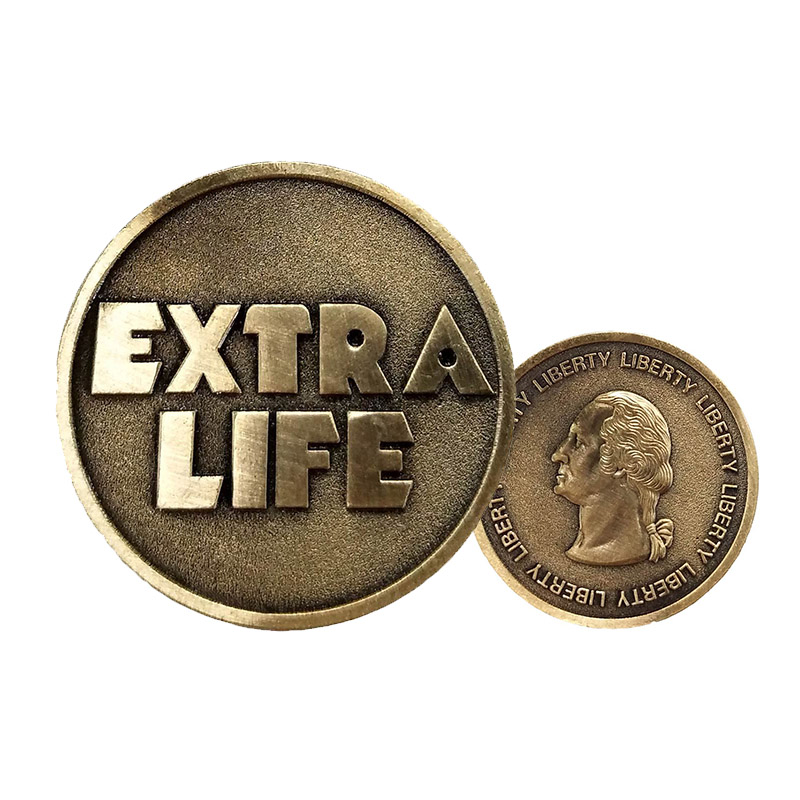 Ready Player One Extra Life Coin Quarter Cosplay Prop Commenorative Coin Halloween Gift