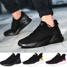 Sneakers Walking-Shoes Athletic-Trainer Comfortable Mens Black Footwear Flexible