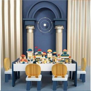 Compatible avec Lego multi-fonctionnel Table de construction enfant jouet Table assemblage Puzzle jeu Table bébé cerveau 2-6 ans