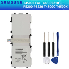 SAMSUNG Original Replacement Battery T4500E For Samsung GALAXY Tab3 P5210 P5200 P5220 Authentic Tablet Battery 6800mAh tempered glass for samsung galaxy tab 3 10 1 tab3 p5200 p5220 p5210 sm p5200 gt p5200 gt p5220 tablet screen protector film