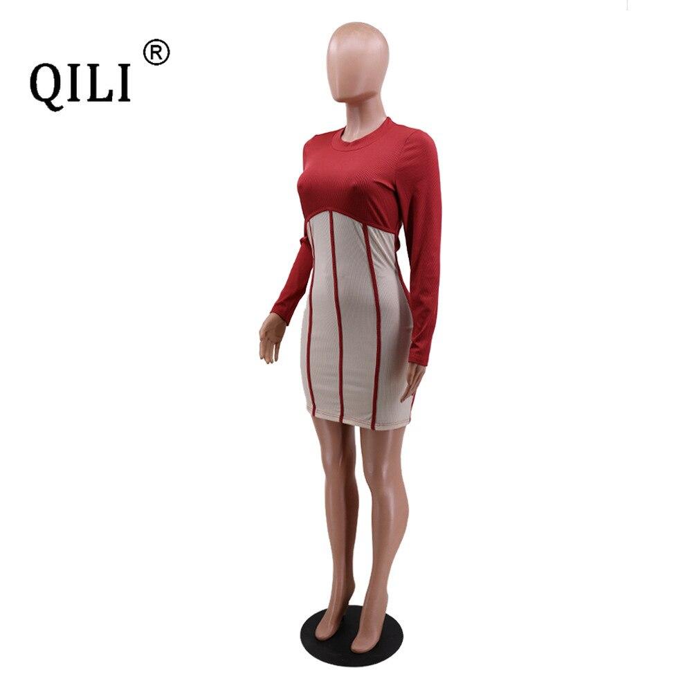Купить женское платье футляр с длинным рукавом в полоску