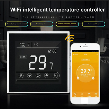 90~240V Alexa Google Home Smart Intelligent WiFi Thermostat Room Electric Water Gas Boiler Floor Heating Temperature Controller