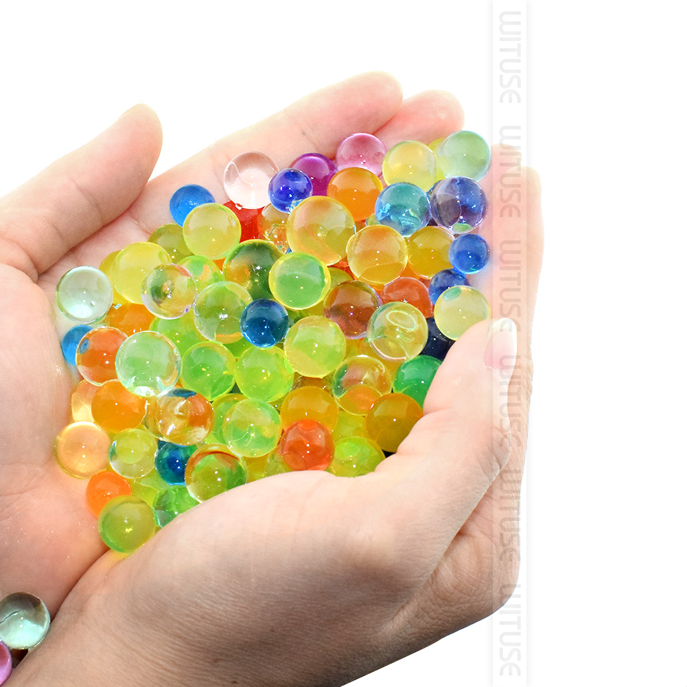 5000pcs Orbiz 6mm Crystal Soil Hydrogel Polymer Flower Wedding Water Beads polymer Growing Decor Water Balls Big Home Decoration