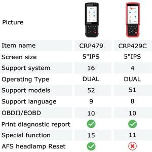 Image 5 - เปิดตัว X431 CRP479 OBD 2 เครื่องสแกนเนอร์ ABS EPB DPF รีเซ็ตน้ำมัน 16 ระบบ OBDII เครื่องมือวินิจฉัยรถยนต์ OBD2 เครื่องสแกนเนอร์ PK CRP429C
