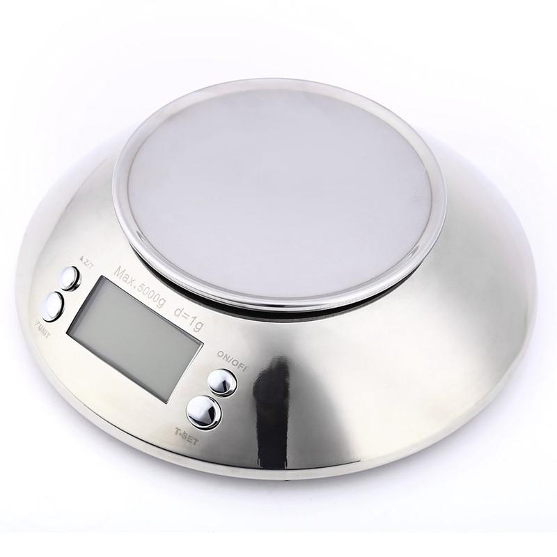Balança de cozinha de aço inoxidável 5kg
