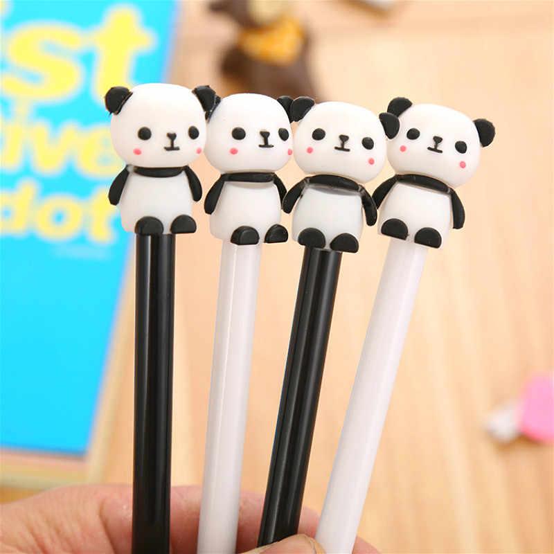 1 stücke 0,5mm Nette Chinesische Panda Gel Stift Schwarz Tinte für Stifte Kawaii Kugelschreiber Schule Canetas Geschenk Büro Planer schreibwaren