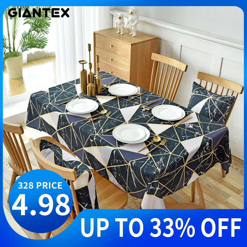 GIANTEX Waterproof Table Cloth Cotton Tablecloth Rectangular Tablecloths Dining Table Cover Obrus Tafelkleed Mantel Mesa Nappe