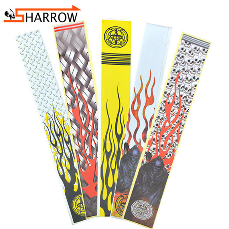 12pcs Arrow Shaft Sticker Shooting DIY Darts Shaft Arrows Shaft Decorative Sticker Outdoor Hunting Archery Training Accessories
