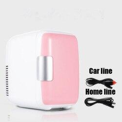 Podwójnego zastosowania 4L użytku domowego samochodów lodówki Ultra cichy niski poziom hałasu samochodów Mini lodówki zamrażarka chłodzenia pole ogrzewania lodówka