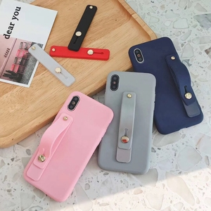 Image 3 - Silicon Phone Hand Band Holder Universal Finger Ring Holder For iPhone Wristband Strap Push Pull Grip Stand Candy Color Bracket