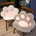 1PC 2 Größen Weiche Pfote Kissen Tier Sitzkissen Gefüllte Plüsch Sofa Innen Boden Zu Hause Stuhl Decor Winter Kinder mädchen Geschenk