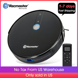 Vacmaster Robot Vacuum Cleaner 1800PA Powerful Suction 2.9 Slim Quiet Automatic, Smart Sensor Protection, Self-Charge