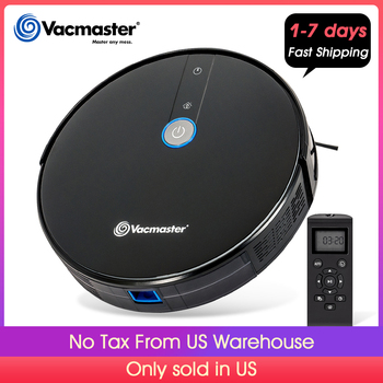 """Vacmaster Robot Vacuum Cleaner 1800PA Powerful Suction 2.9"""" Slim Quiet Automatic, Smart Sensor Protection, Self Charge"""