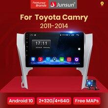 Автомагнитола Junsun V1 для Toyota, мультимедийный видеоплеер на Android 10,0, 2 Гб ОЗУ, 32 Гб ПЗУ, с GPS-Навигатором и dvd, для Toyota Camry 8, 50, 55, 2011-2014, типоразмер 2 ...