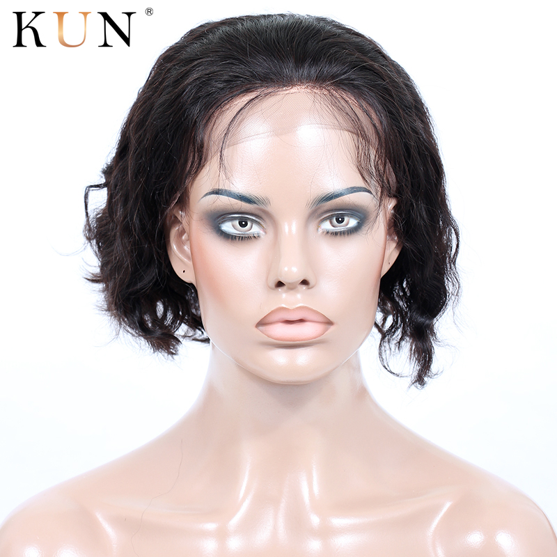 Short Human Hair Wigs 13*6 Lace Front Human Hair Wigs Remy Body Wave Wig Natural Hairline For Women 150 180 Density Lace Wig