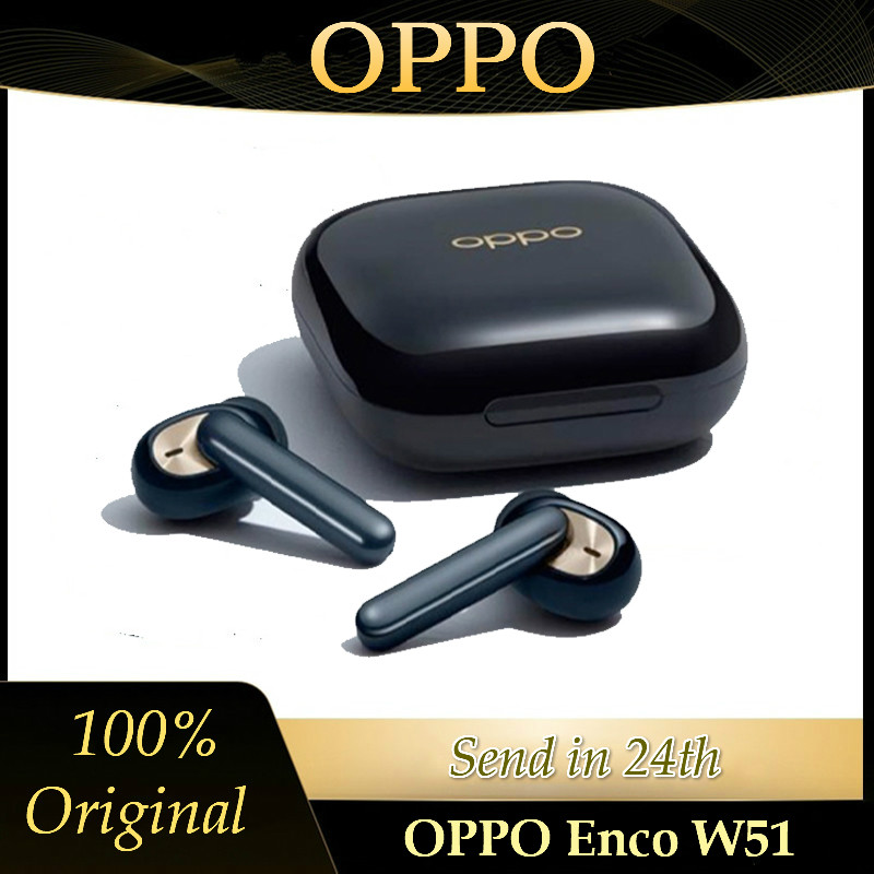 OPPO Enco W51 Headset TWS Bluetooth 5 0 Noise Cancellation Wireless Earphones For Reno 4 Pro 3 Find X2 ACE 2