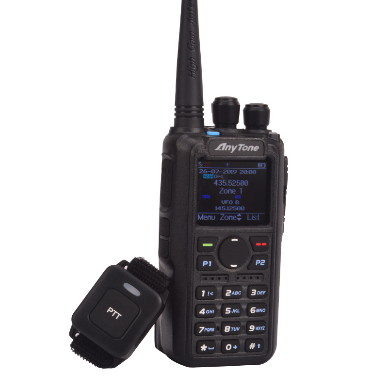 Ham Radio Anytone AT-D878UV Plus Digital DMR & Analog UHF/VHF Dual Band Bluetooth PTT Walkie Talkie GPS APRS Radio With PC Cable