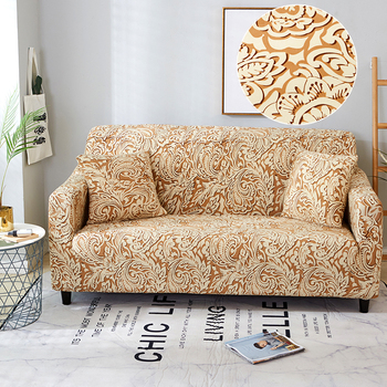 Sofa Covers for Living Room Modern Floral Printed Stretch Sectional Slipcover Polyester L Shape Armchair Couch Case 1/2/3/4 Seat 15