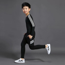 Kids Fitness Pants Gym Men Training Jogging Suits Clothing Kids Boys Running Workout Sports Wear Compression Clothing Sets boys girls sports clothing set school uniform kids children running tracking jogging suits comfortable 2 pcs jacket pants a33