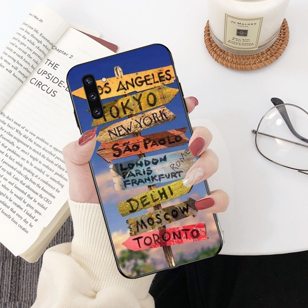 Nbdruicai California New York Boston Miami Điện Thoại Dành Cho Samsung Note 3 4 5 7 8 9 10 Pro A7 2018 A10 A40 A50 A70 J7 2018