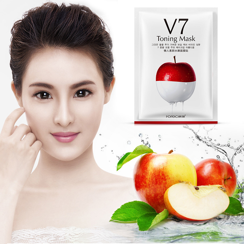 V7 Lazy Sunscreen Supple Face Mask Pore Strip Thin Breathable Moisturizing Mask Treatment Deep Cleansing Skin Care TSLM1